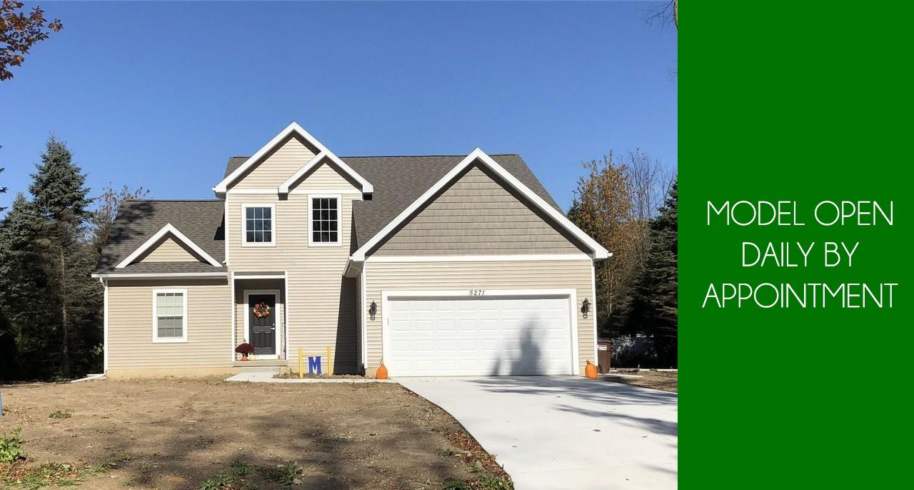 Exterior featured in the Hampton By CVE Homes in Jackson, MI