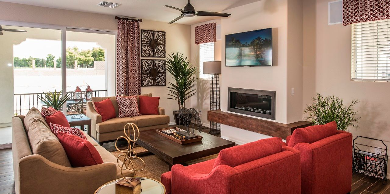 Living Area featured in the Villa One By Cachet Homes in Phoenix-Mesa, AZ