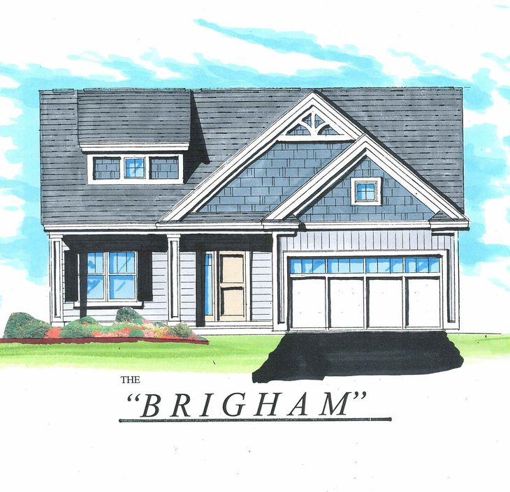 The Brigham:Front elevation rendering