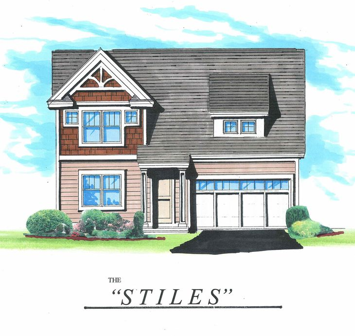 The Stiles:Front elevation rendering