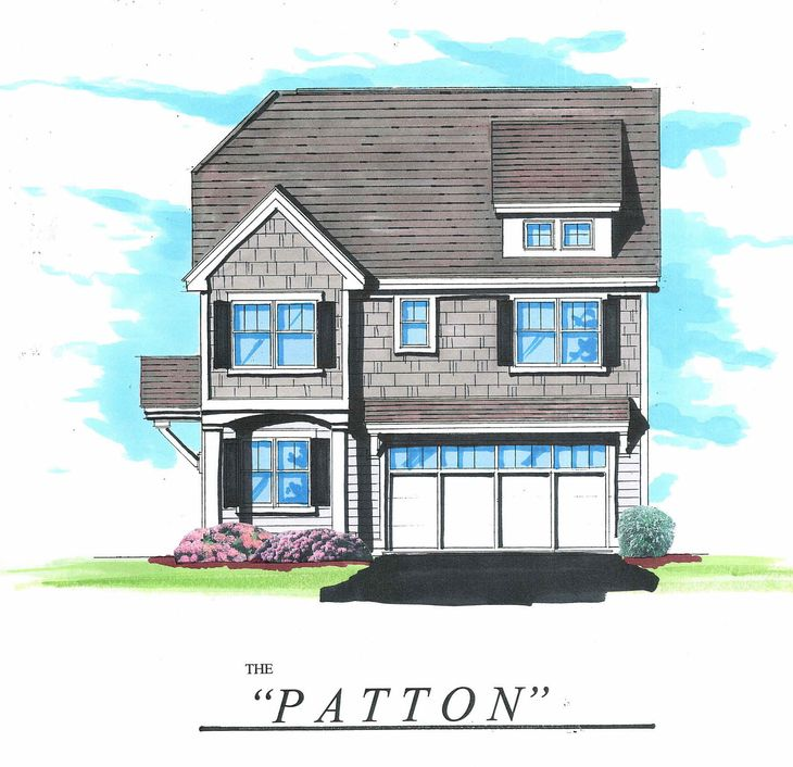 The Patton:Front elevation rendering