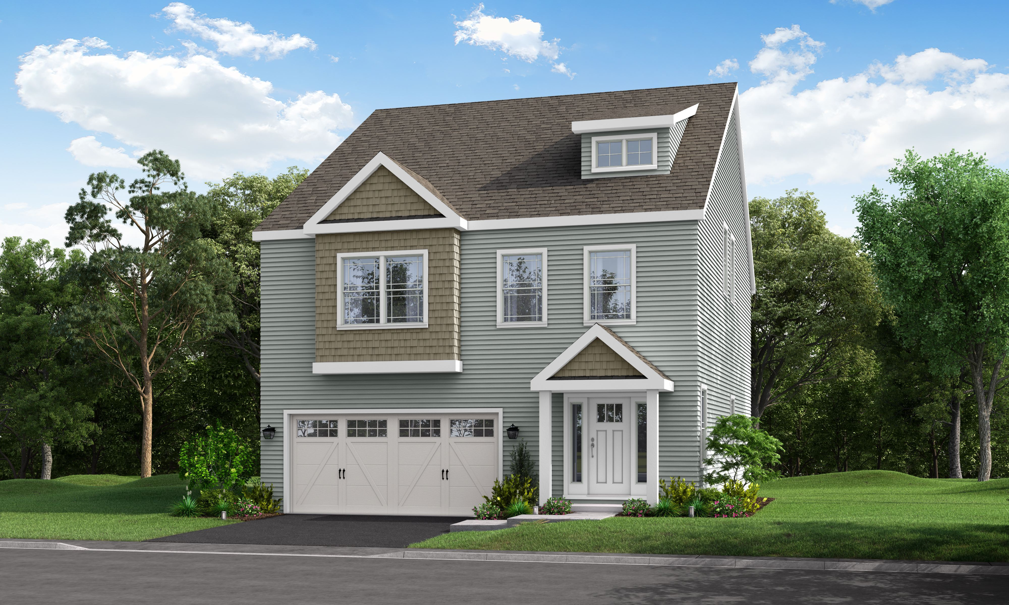 Exterior featured in The Patton 4 Bedroom By Calcagni Real Estate in New Haven-Meriden, CT
