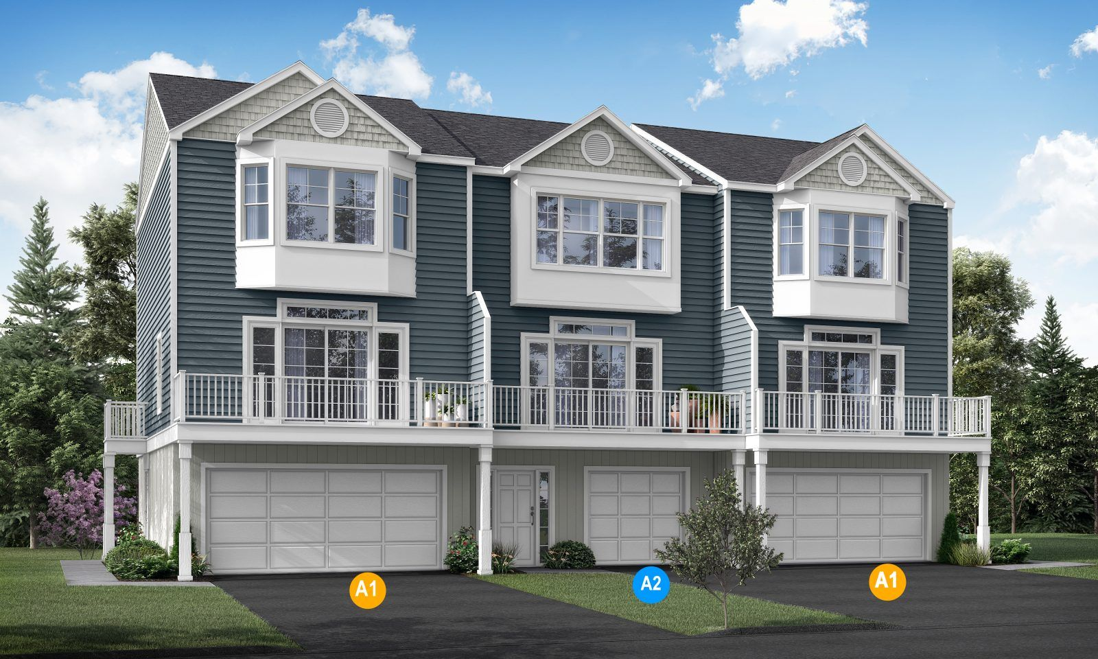 Exterior featured in the Plan A1 By Calcagni Real Estate in New Haven-Meriden, CT