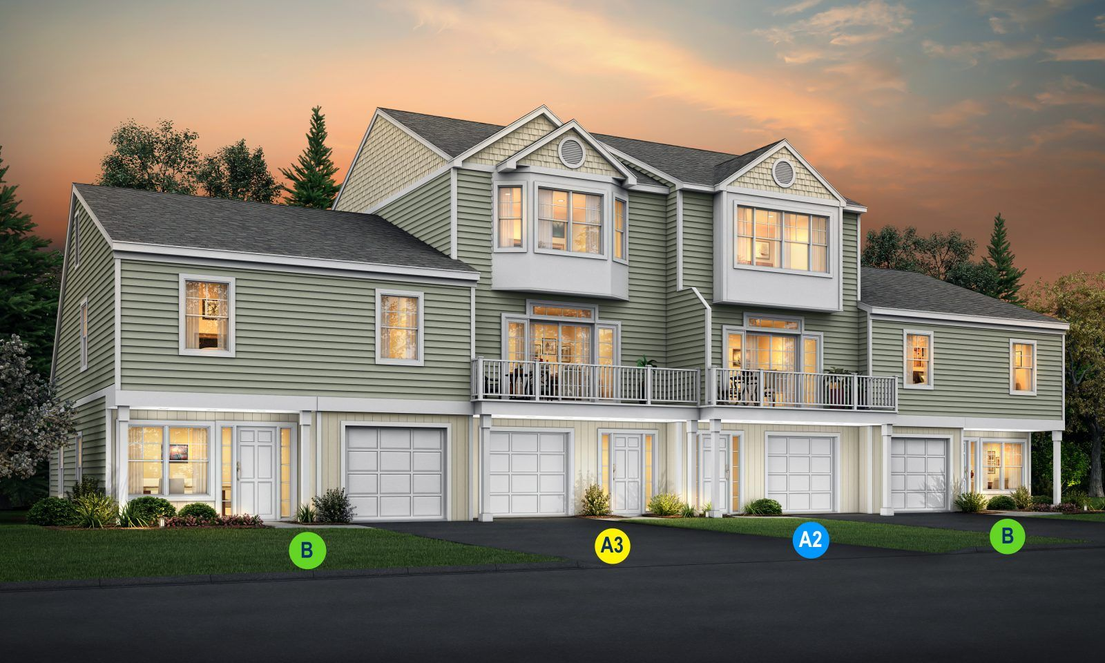 Exterior featured in the Plan A3 By Calcagni Real Estate in New Haven-Meriden, CT