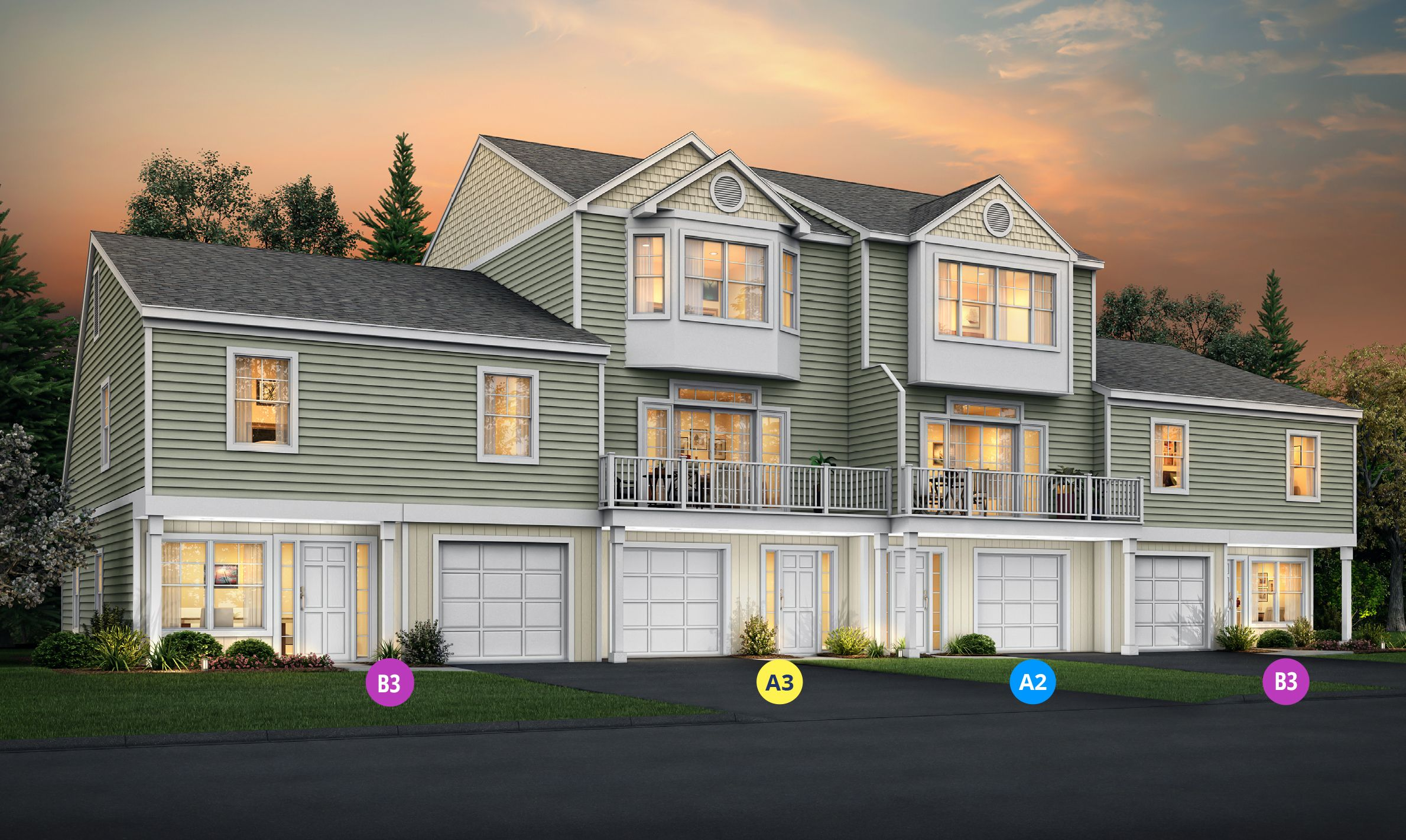 Exterior featured in the Plan B3 By Calcagni Real Estate in New Haven-Meriden, CT