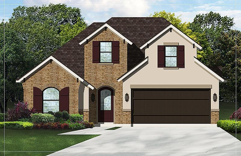 Exterior featured in the Sagebrush By Caldwell Homes in Bryan-College Station, TX