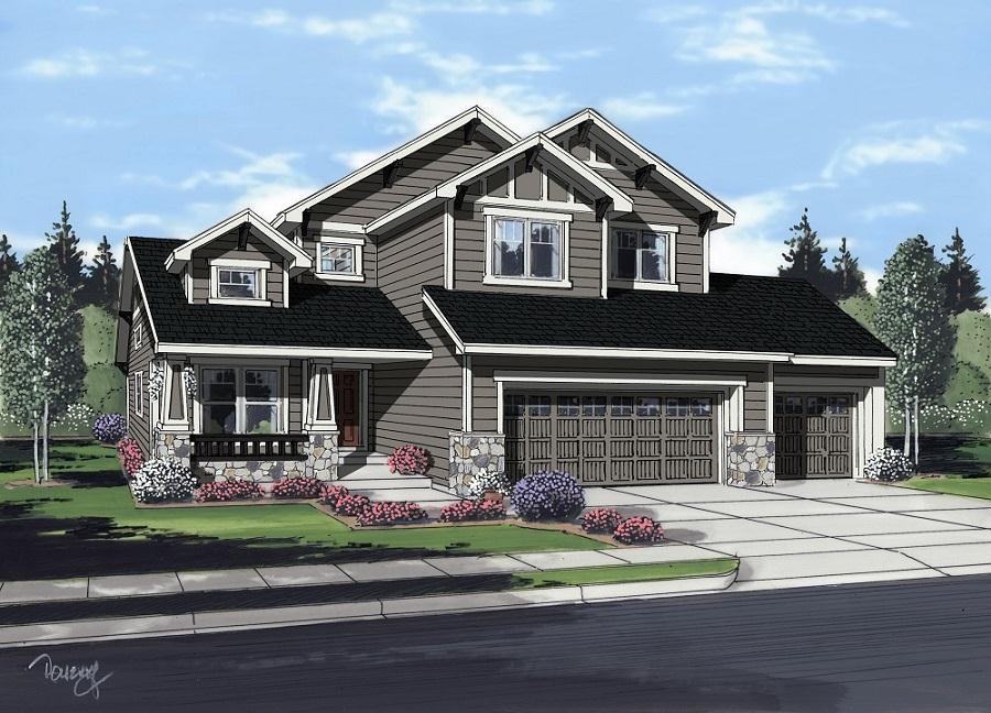 Exterior featured in the Wilshire By Campbell Homes in Colorado Springs, CO