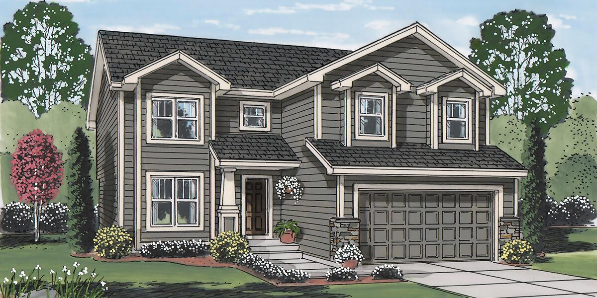 Exterior featured in the Laramie By Campbell Homes in Colorado Springs, CO