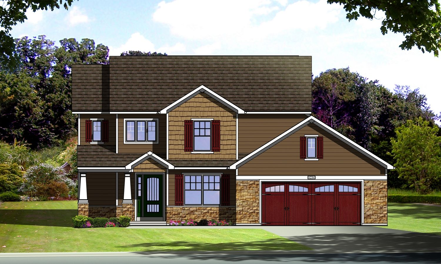 Exterior featured in The Alsace By Cannon Builders, Inc.  in St. Louis, MO