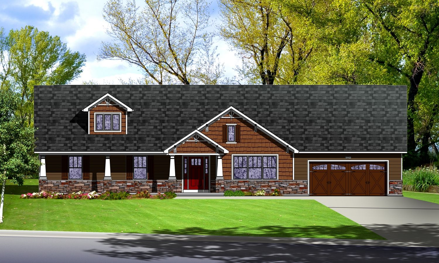 Exterior featured in The Vinho By Cannon Builders, Inc.  in St. Louis, MO