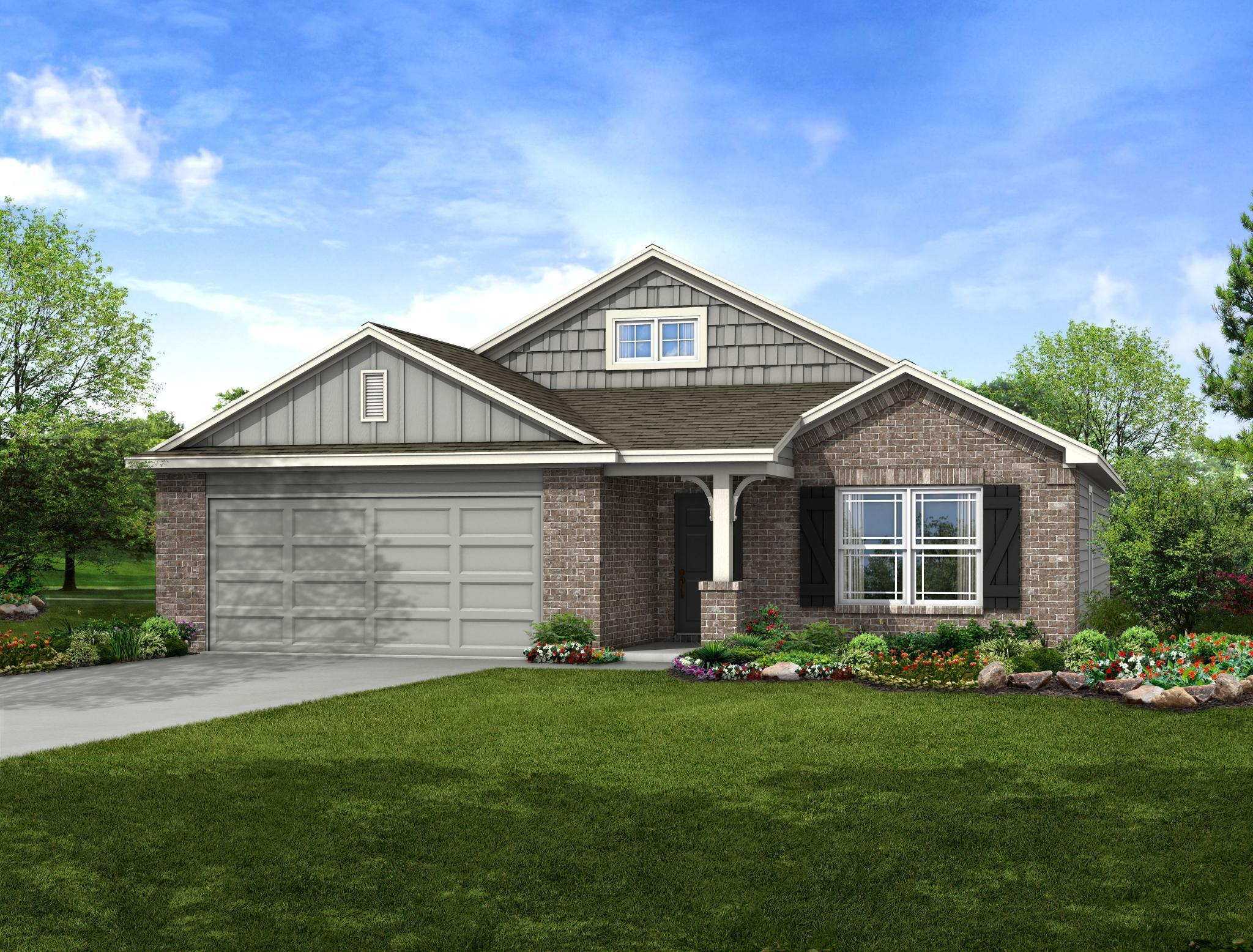 Exterior featured in the Naples By Capital Homes in Tulsa, OK