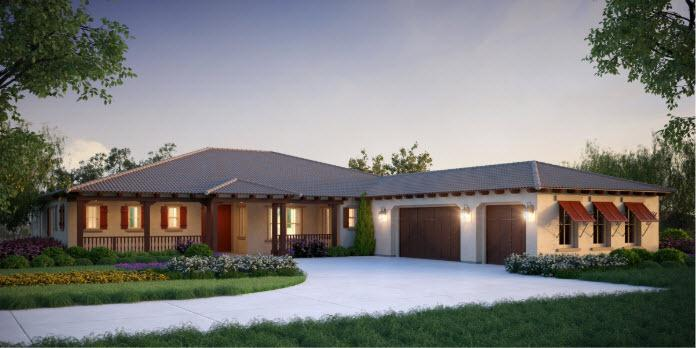 Exterior featured in the Plan 1 By Capital Pacific Homes in Riverside-San Bernardino, CA