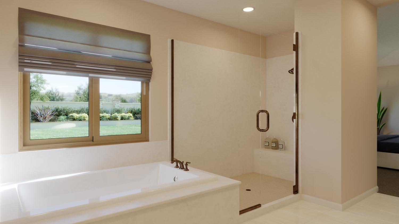 Bathroom featured in the Plan 1 By Capital Pacific Homes in Riverside-San Bernardino, CA
