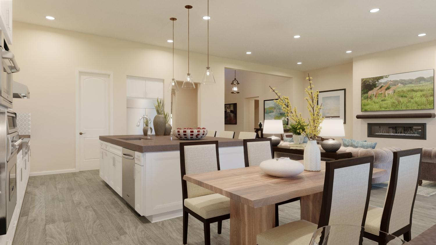 Kitchen featured in the Plan 1 By Capital Pacific Homes in Riverside-San Bernardino, CA