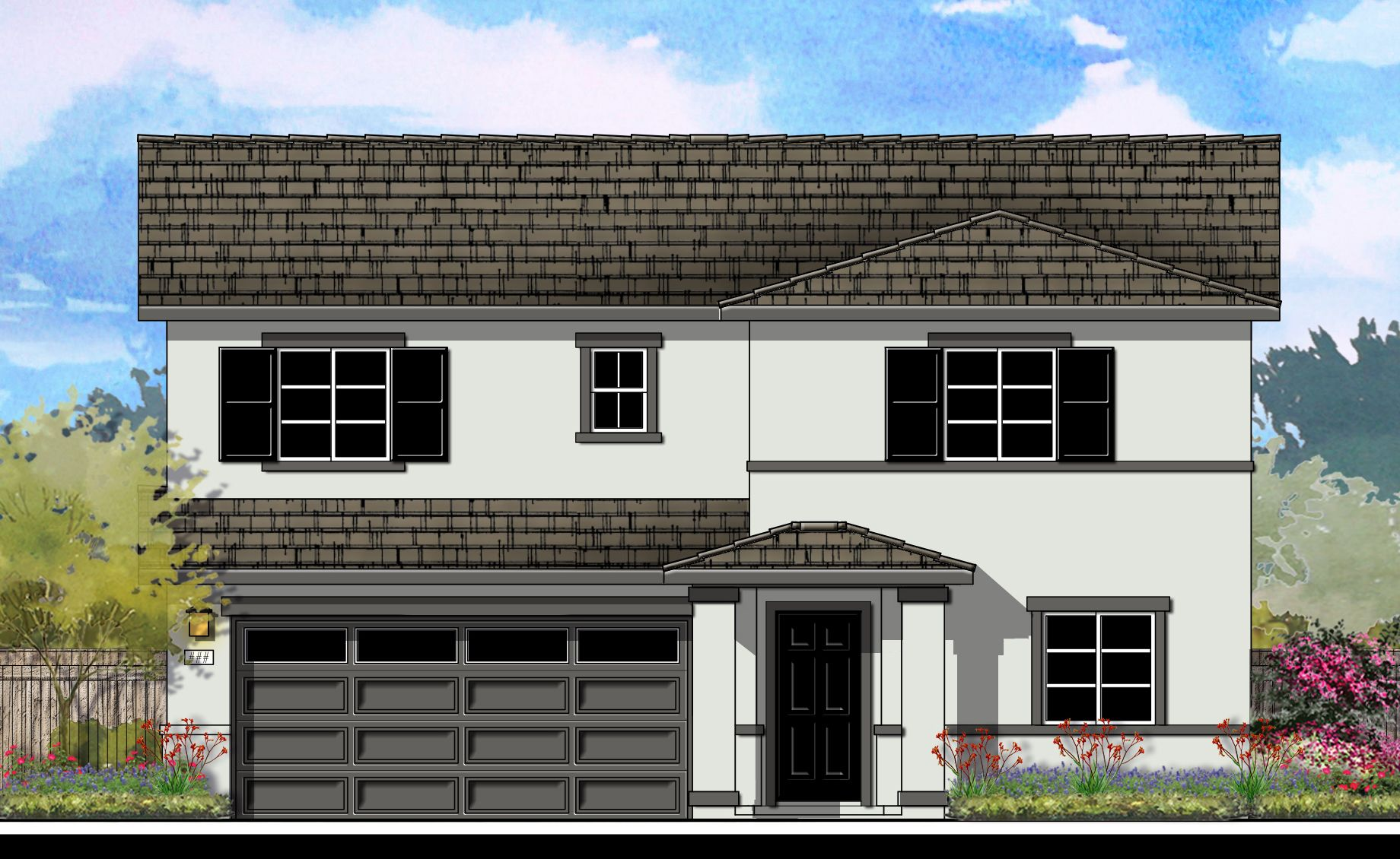 Exterior featured in the Vista Sol Plan 3 By Capital Pacific Homes in Riverside-San Bernardino, CA