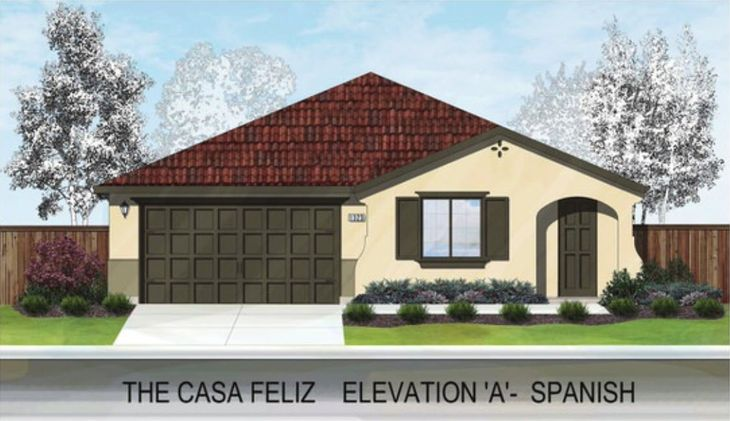 THE CASA FELIZ:ELEVATION 'A' - SPANISH