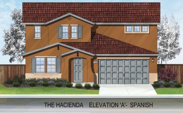 THE HACIENDA:ELEVATION 'A' - SPANISH