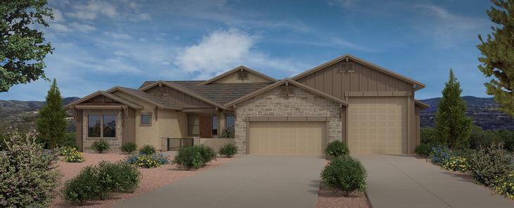 Elevation:Yavapai Hills Ridgeview Plan 2807 Artist's Rendering