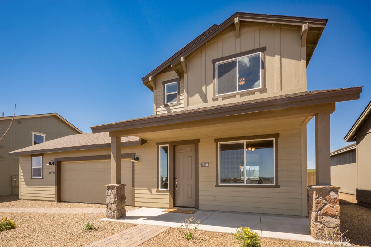 Exterior featured in the Flagstaff Meadows Plan 2090 By Capstone Homes in Flagstaff, AZ