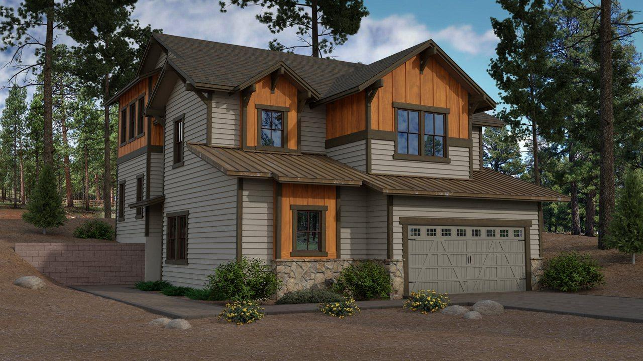 Exterior featured in the Aspen Ridge Plan 5 By Capstone Homes in Flagstaff, AZ