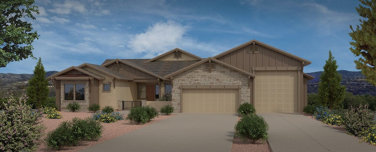 Exterior featured in the Featured Plan 2807 By Capstone Homes in Prescott, AZ