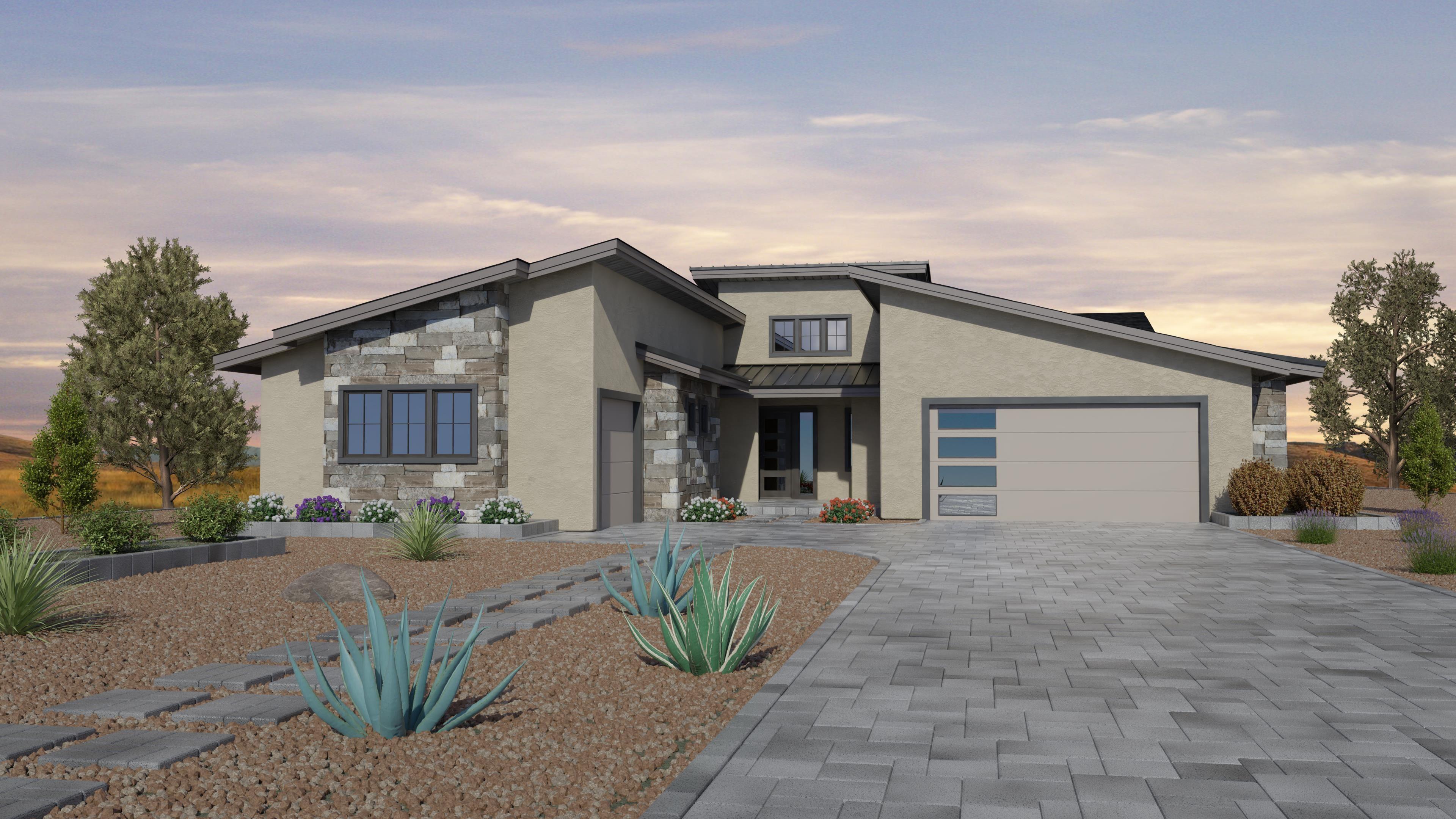 Exterior featured in the Jasper Featured Plan 2382 By Capstone Homes in Prescott, AZ