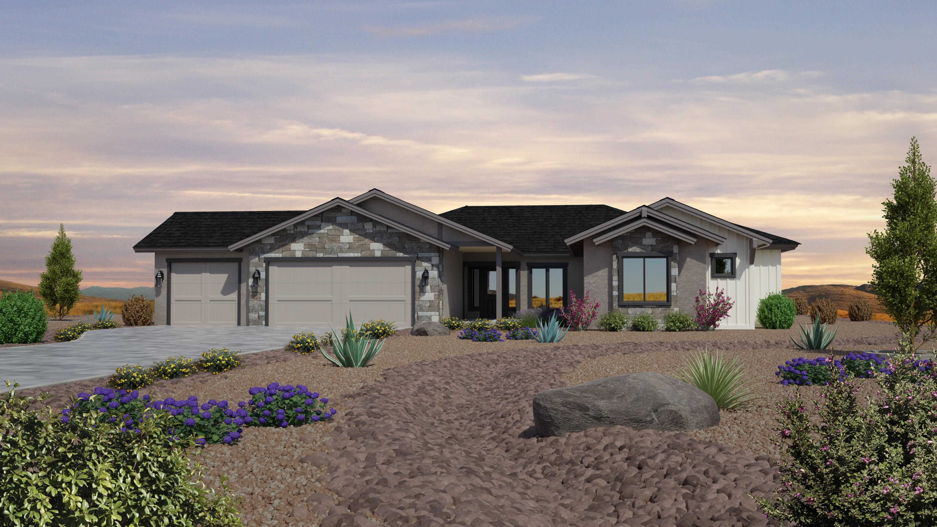 Exterior featured in the Jasper Featured Plan 2672 By Capstone Homes in Prescott, AZ