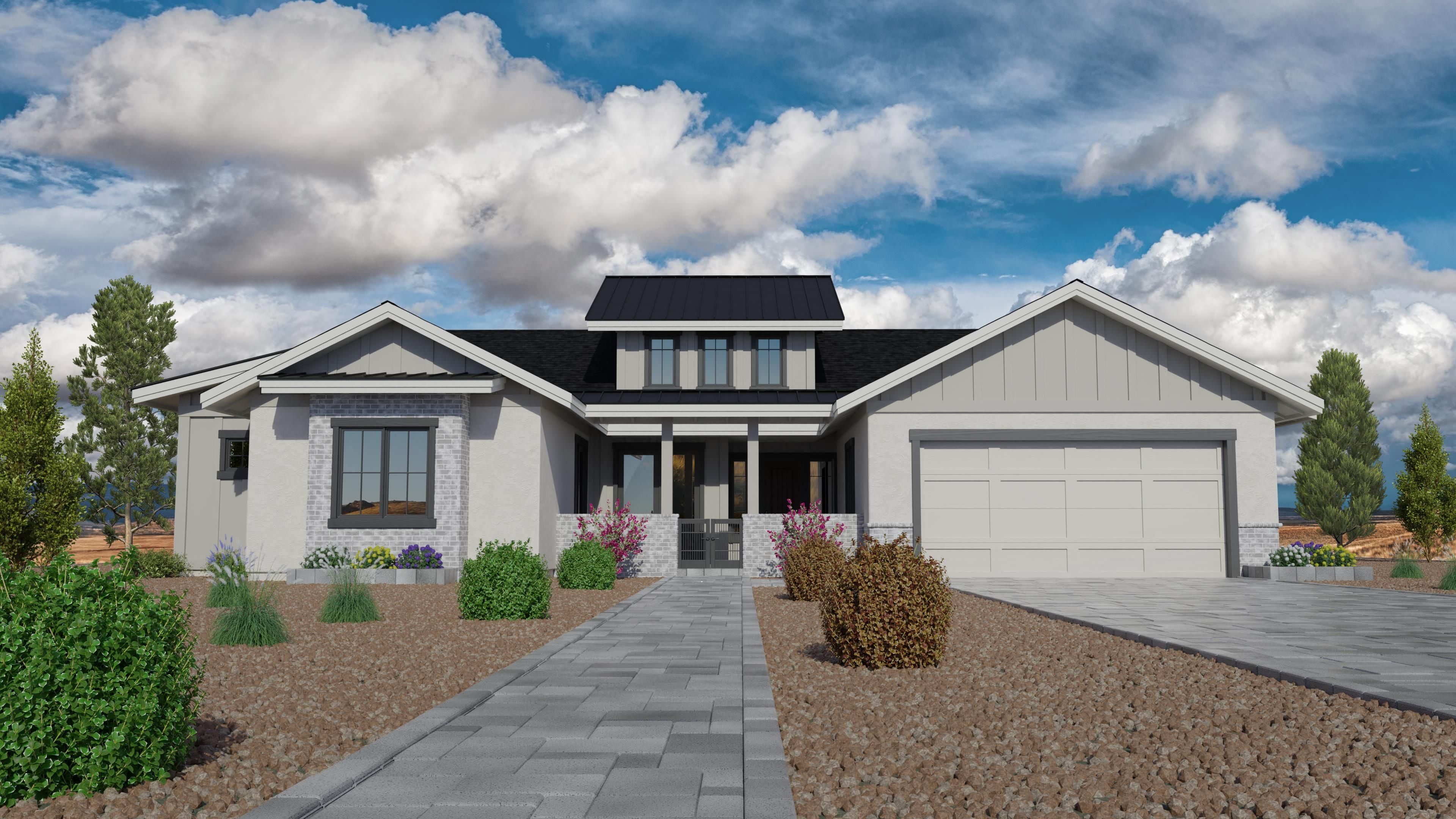 Exterior featured in the Jasper Featured Plan 3020 By Capstone Homes in Prescott, AZ