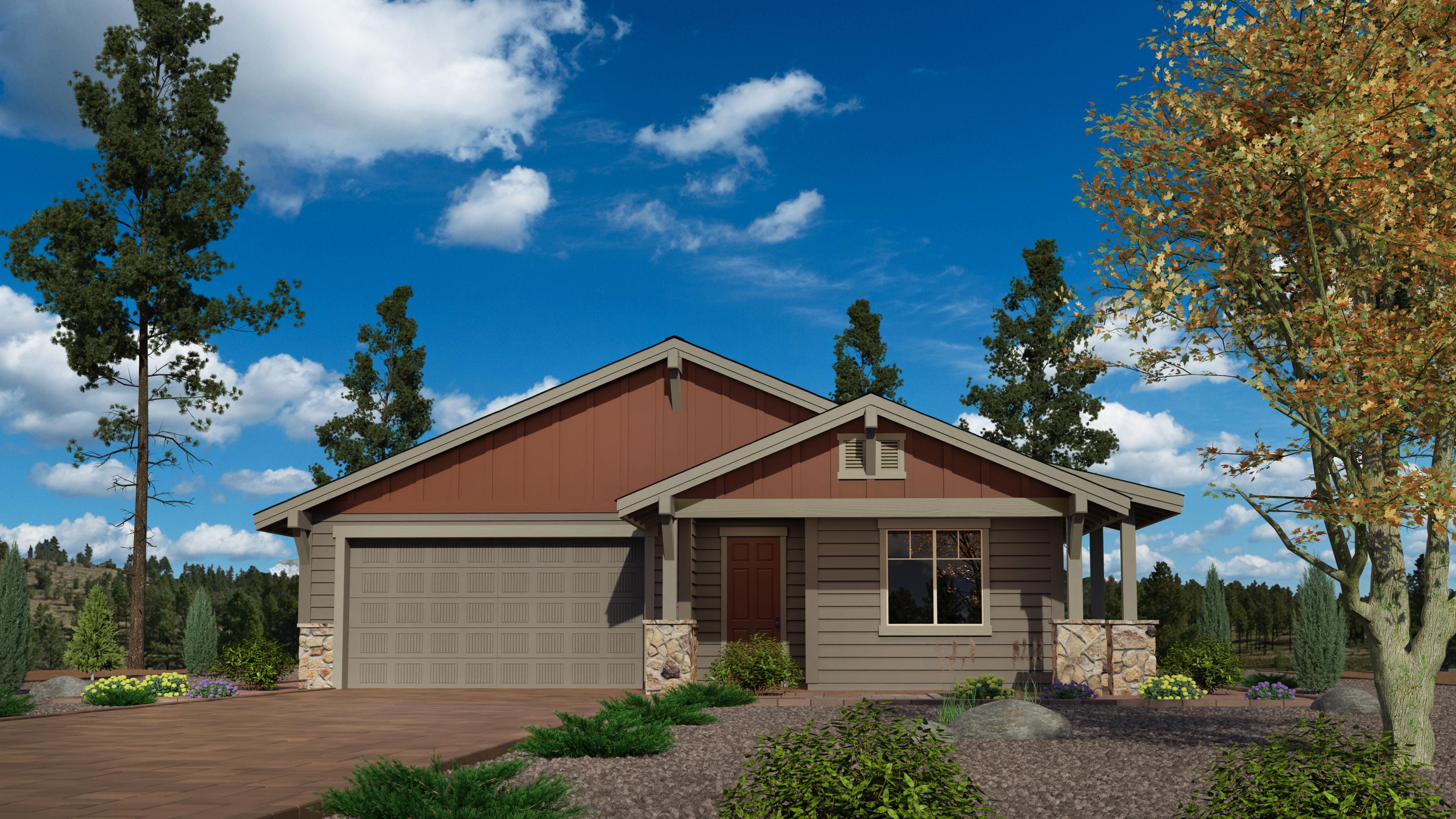 Exterior featured in the Timber Sky Plan 1471 By Capstone Homes in Flagstaff, AZ