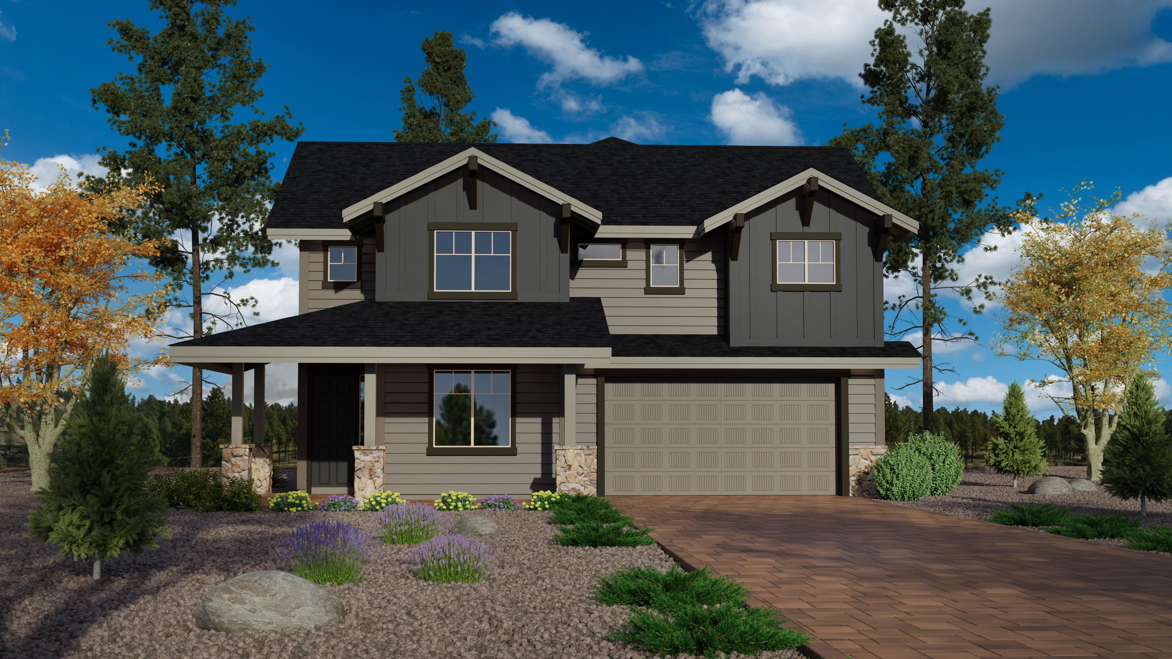 Exterior featured in the Timber Sky Plan 2443 By Capstone Homes in Flagstaff, AZ