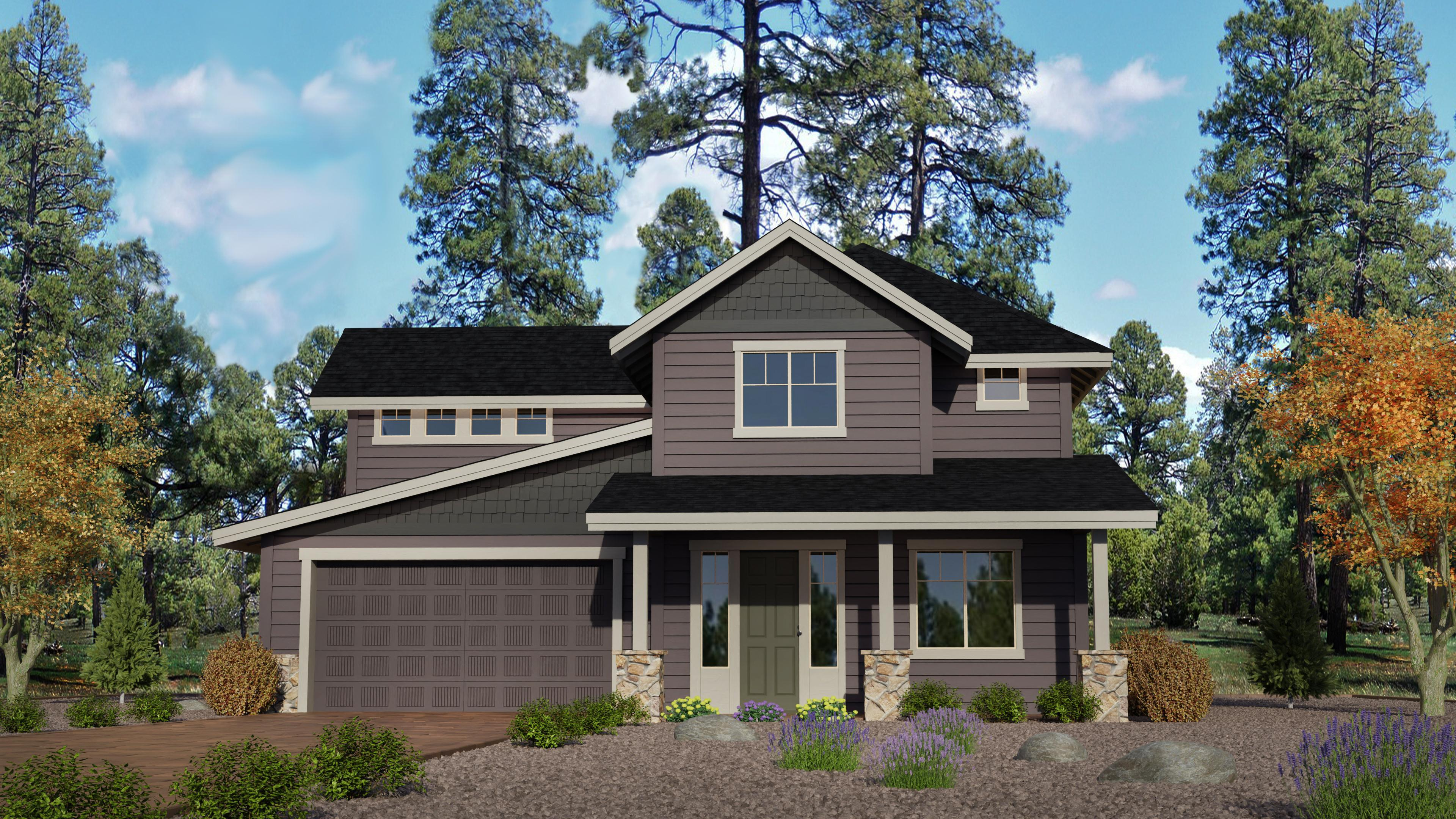 Exterior featured in the Timber Sky Plan 3222 By Capstone Homes in Flagstaff, AZ