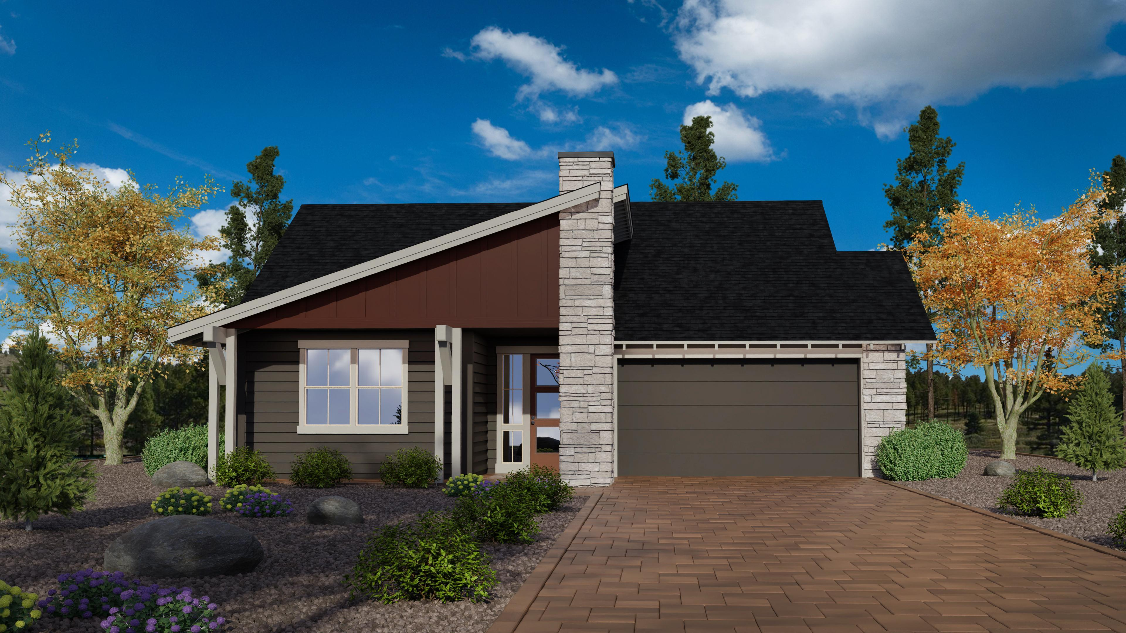 Exterior featured in the Timber Sky Plan 1569 By Capstone Homes in Flagstaff, AZ