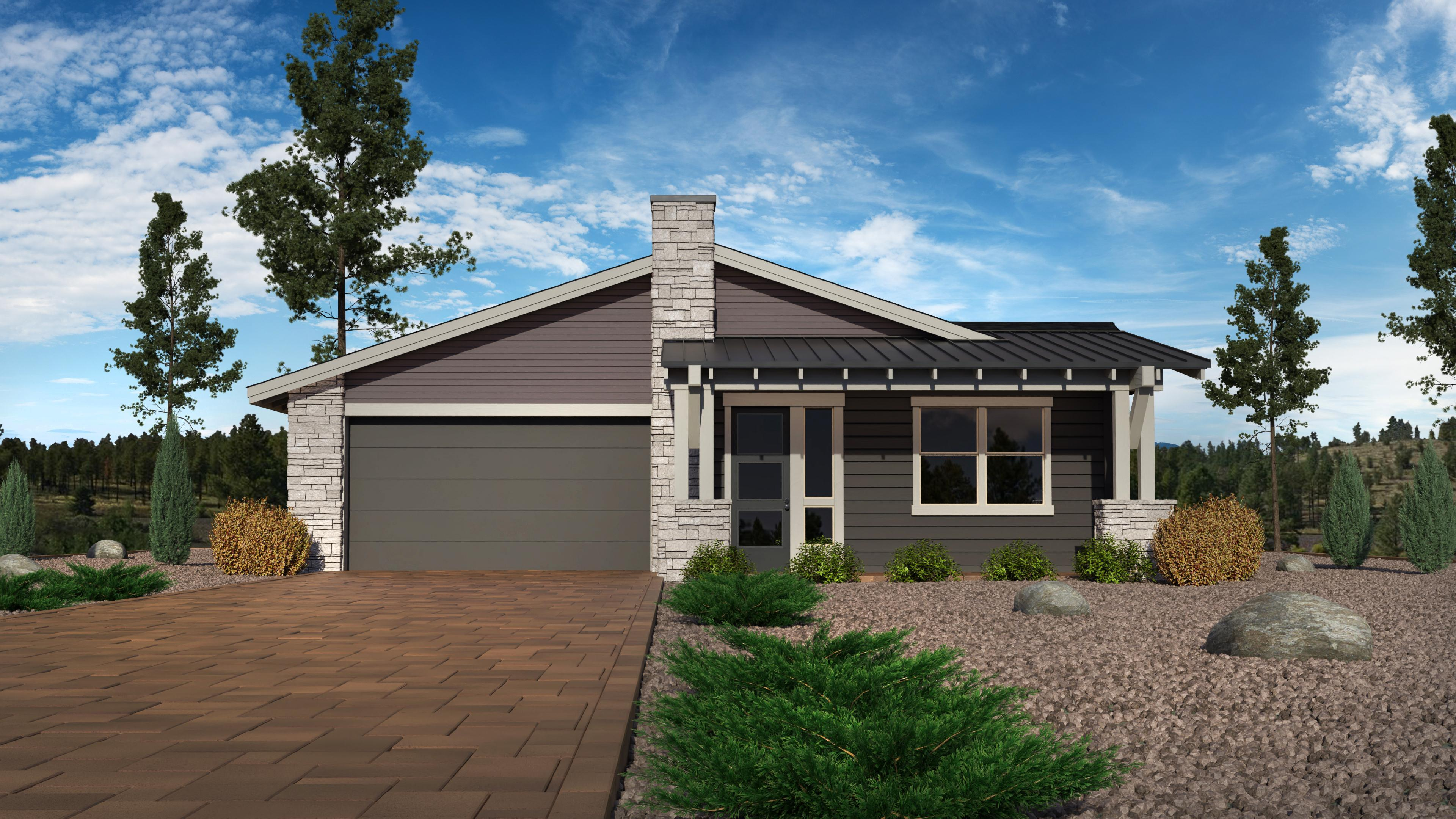 Exterior featured in the Timber Sky Plan 2299 By Capstone Homes in Flagstaff, AZ