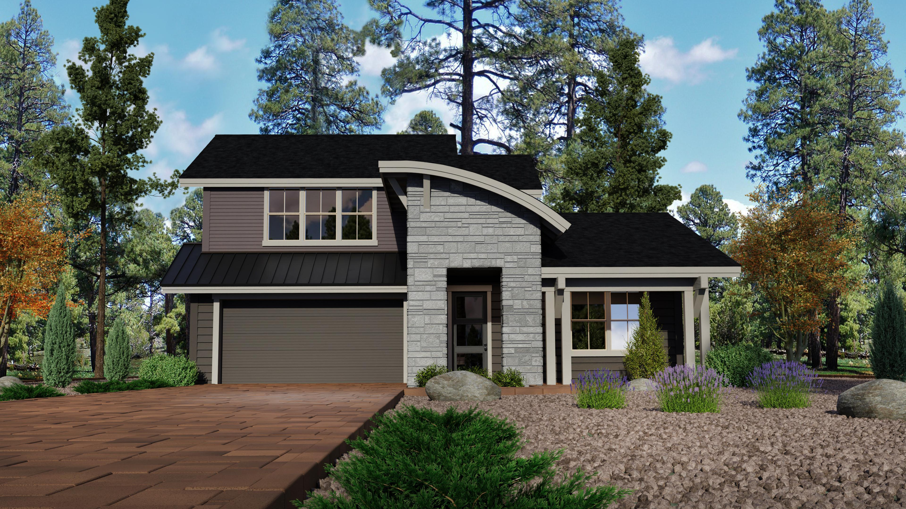 Exterior featured in the Timber Sky Plan 2882 By Capstone Homes in Flagstaff, AZ