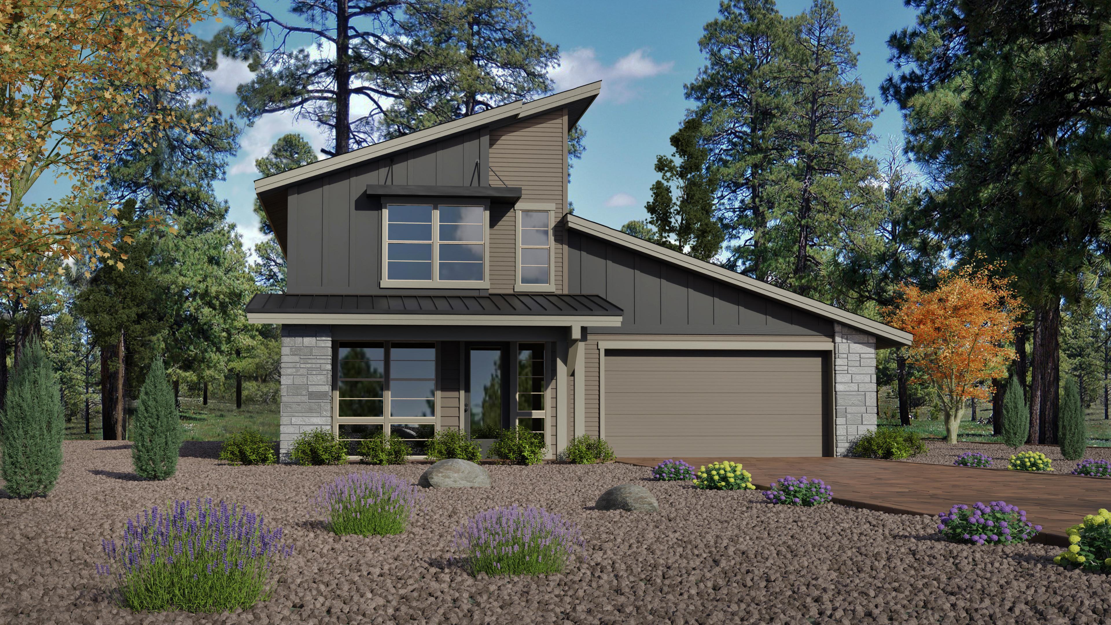 Exterior featured in the Timber Sky Plan 2303 By Capstone Homes in Flagstaff, AZ
