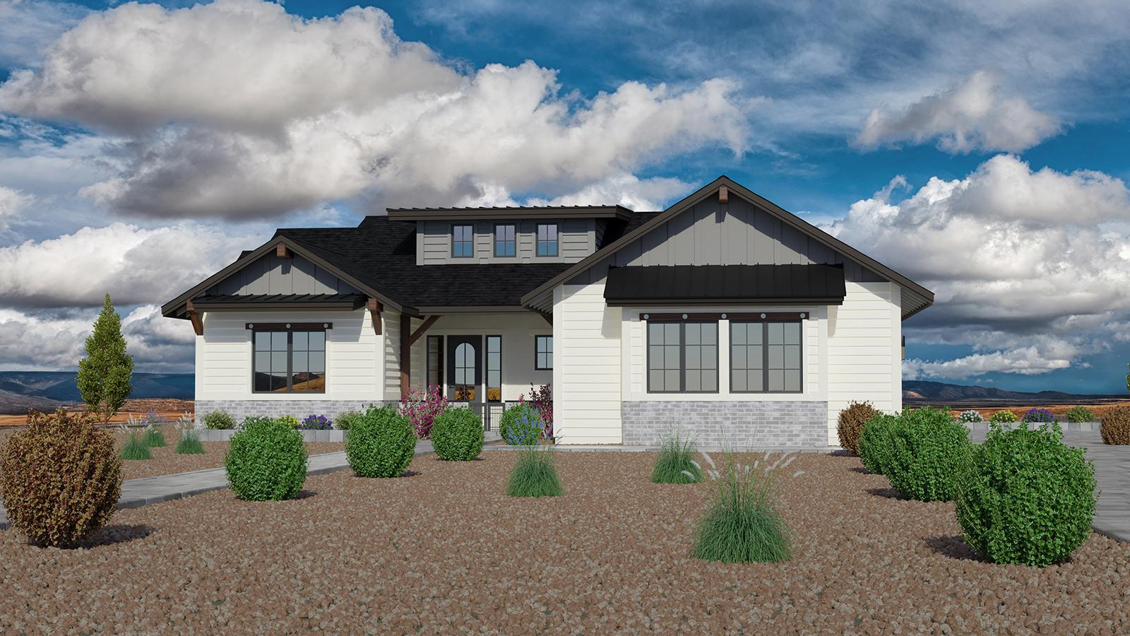Exterior featured in the Jasper Featured Plan 2189 By Capstone Homes in Prescott, AZ