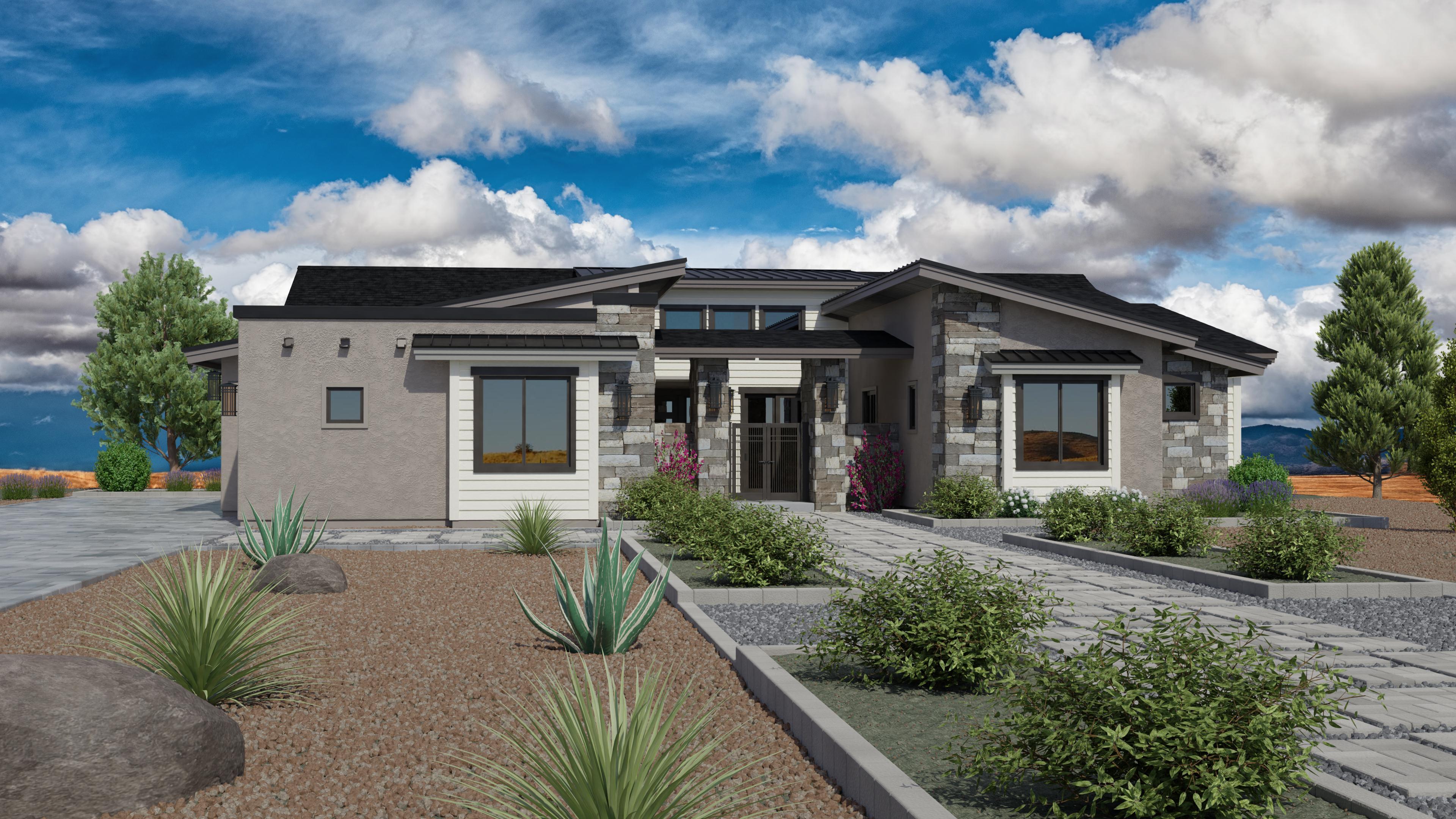 Exterior featured in the Jasper Featured Plan 2672 By Capstone Homes in Prescott, AZ