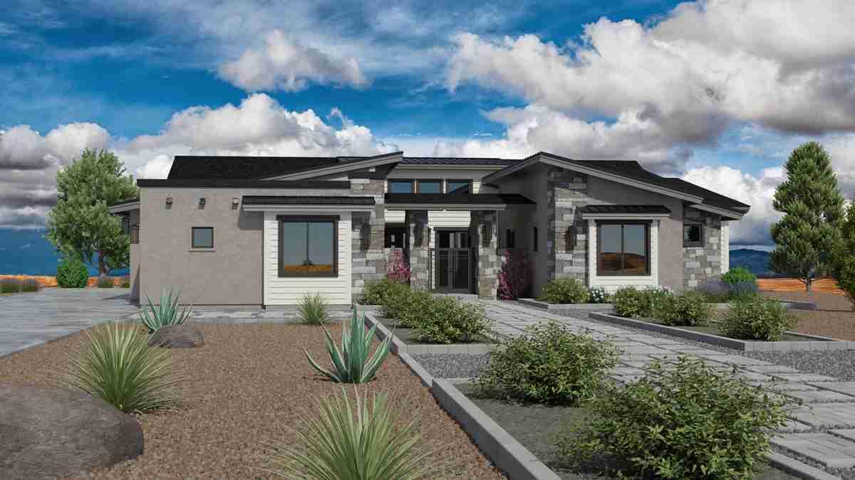 Jasper Featured Plan 2672 Modern Side Garage