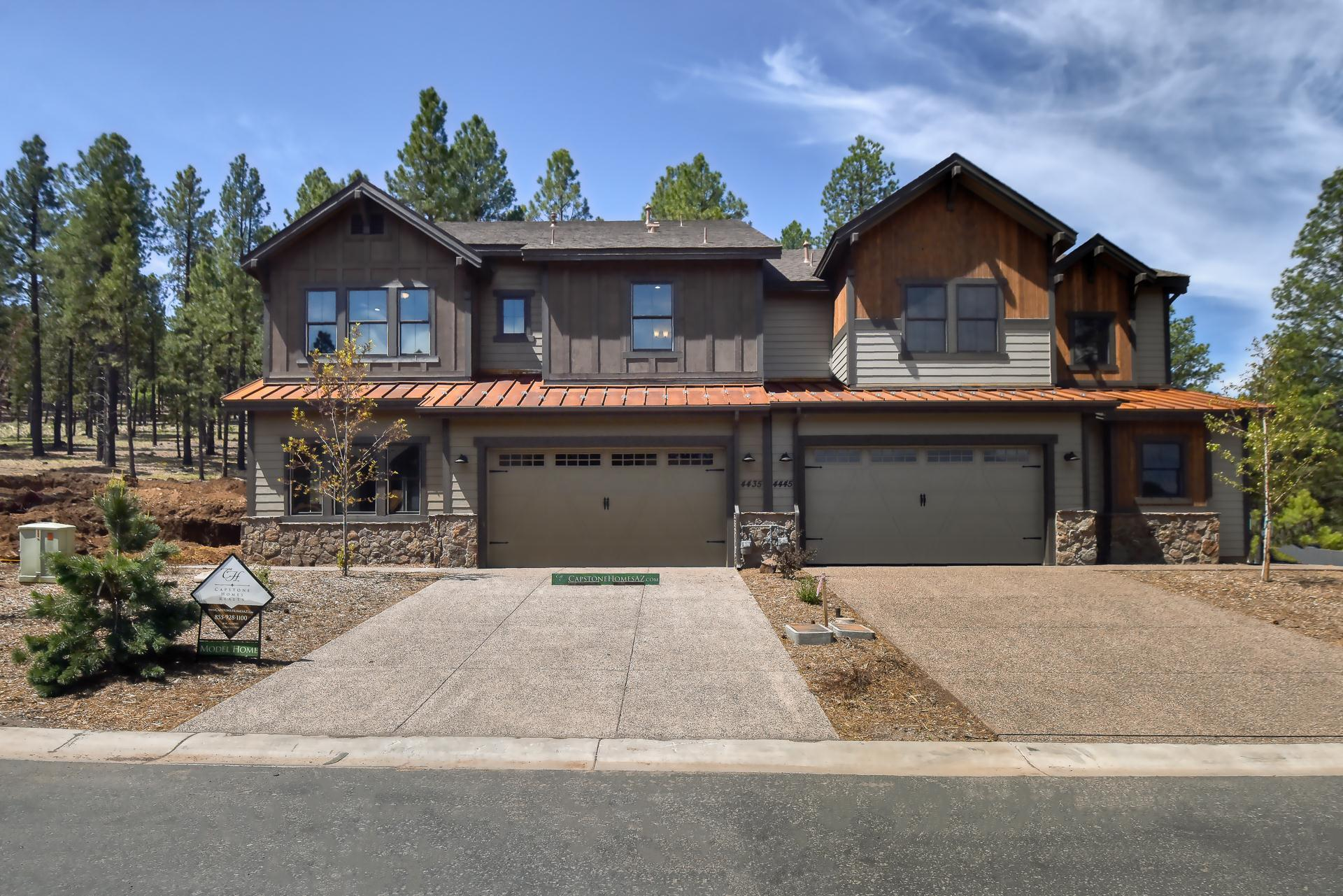 Exterior featured in the Aspen Ridge Plan 6 By Capstone Homes in Flagstaff, AZ