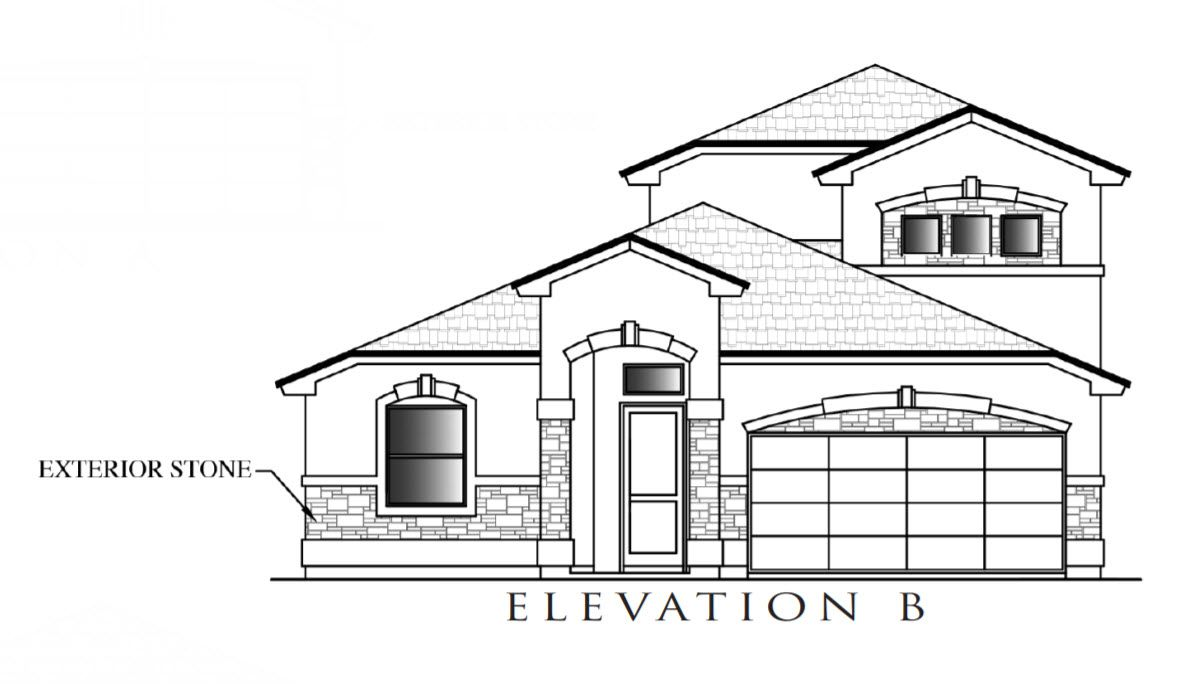 Exterior featured in the Tanzanite By Definitive Homes in El Paso, TX