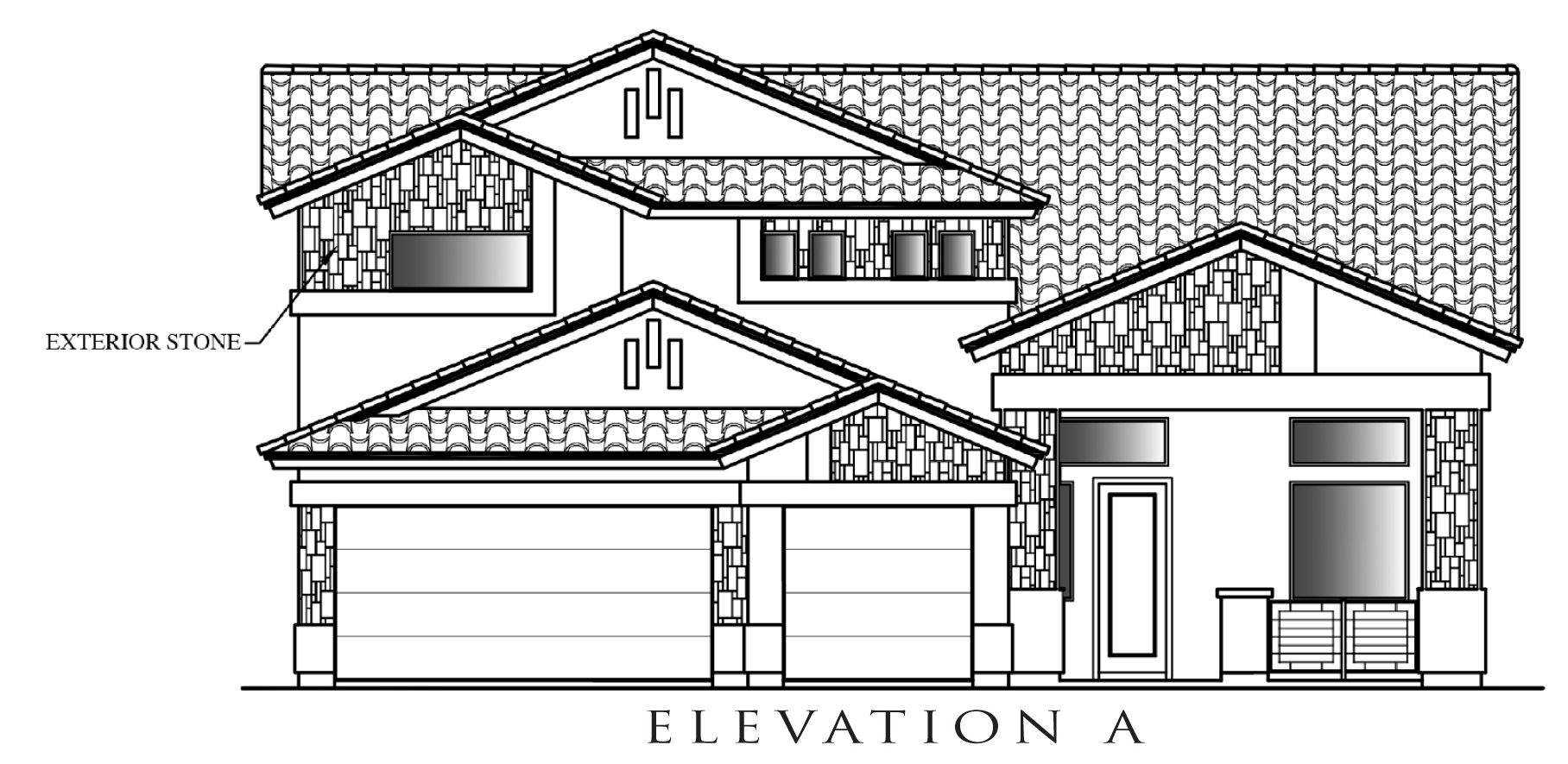 Exterior featured in the Hyatt By Definitive Homes in El Paso, TX