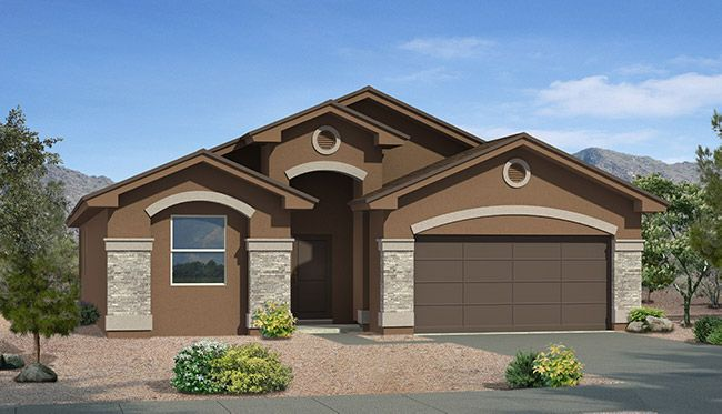 Exterior featured in the Marsala By CareFree Homes in El Paso, TX