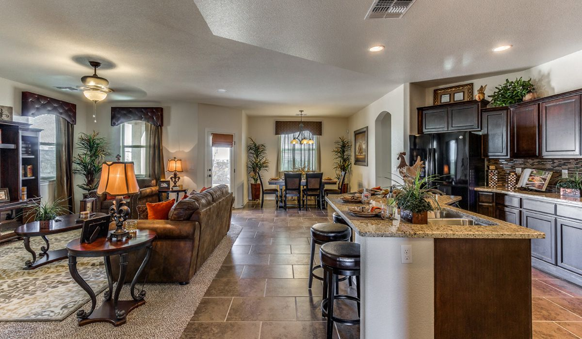 Living Area featured in the Cambridge By CareFree Homes in El Paso, TX