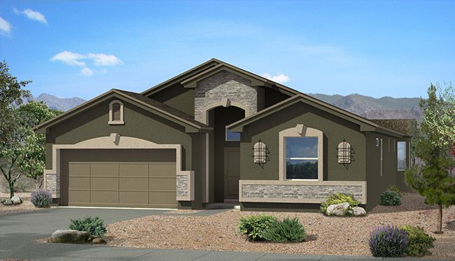 Exterior featured in the Marbella By CareFree Homes in El Paso, TX