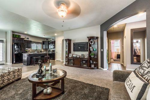Greatroom-and-Dining-in-Woodland-at-Tres Sueños-in-El Paso