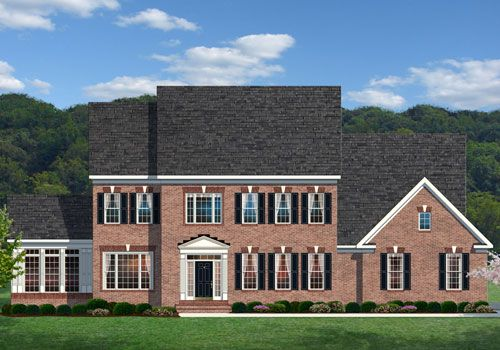 Oakton - elevation 1:Shown with optional Side Conservatory and Bay Window.