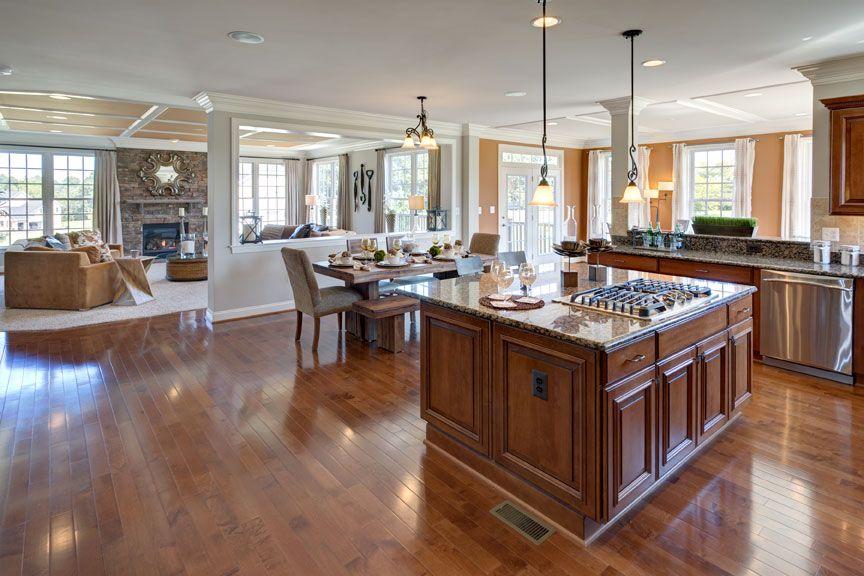 Kitchen featured in The Lancaster By CarrHomes in Washington, VA