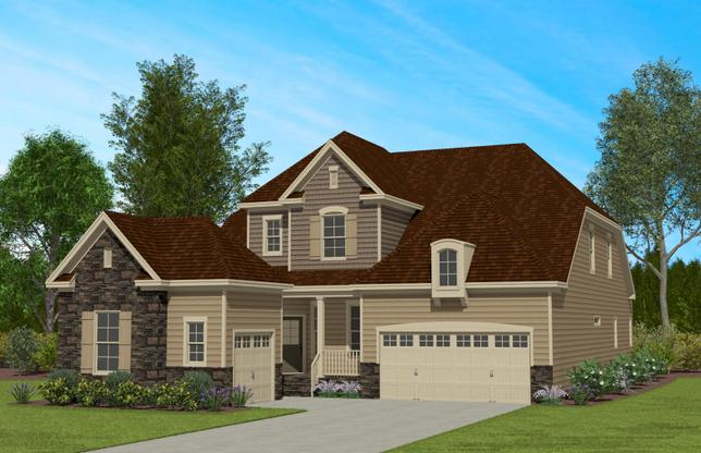 Sequoia Creek by Caruso Homes:The Hickory Elevation 4