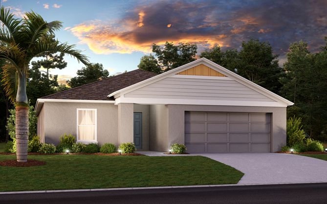 Exterior featured in the Valeria By Casa Fresca Homes in Lakeland-Winter Haven, FL