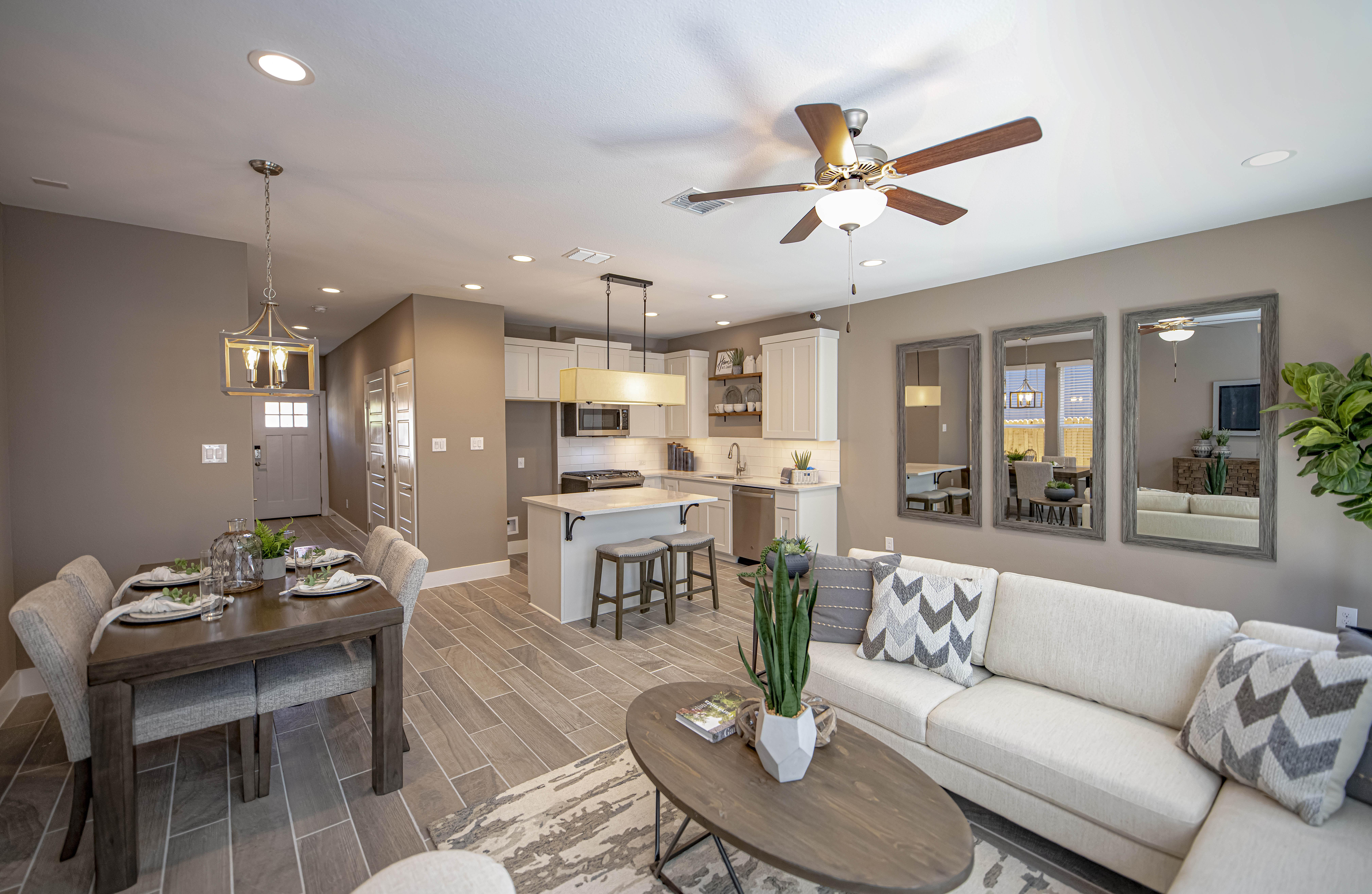 Living Area featured in the Cibolo Creek Townhome By Casina Creek Homes, LLC in San Antonio, TX